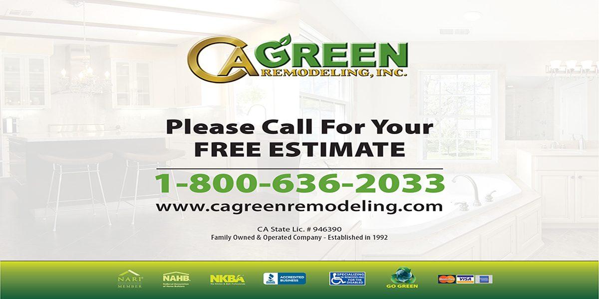 CA Green Postcard 7X5 B